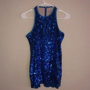 Blue Sequined Dance Top